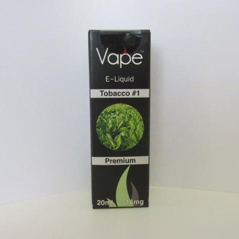 Vape E-Liquid: Tobacco #1 -16mg