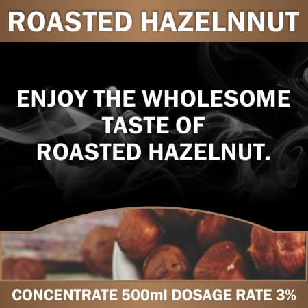 CONCENTRATE 500ML ROASTED HAZELNUT