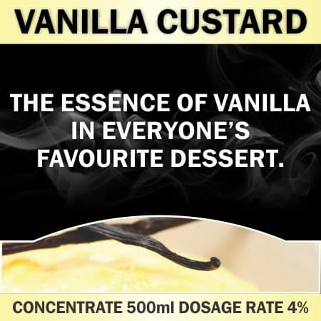 Propylene Glycol CONCENTRATE 500ML VANILLA CUSTARD
