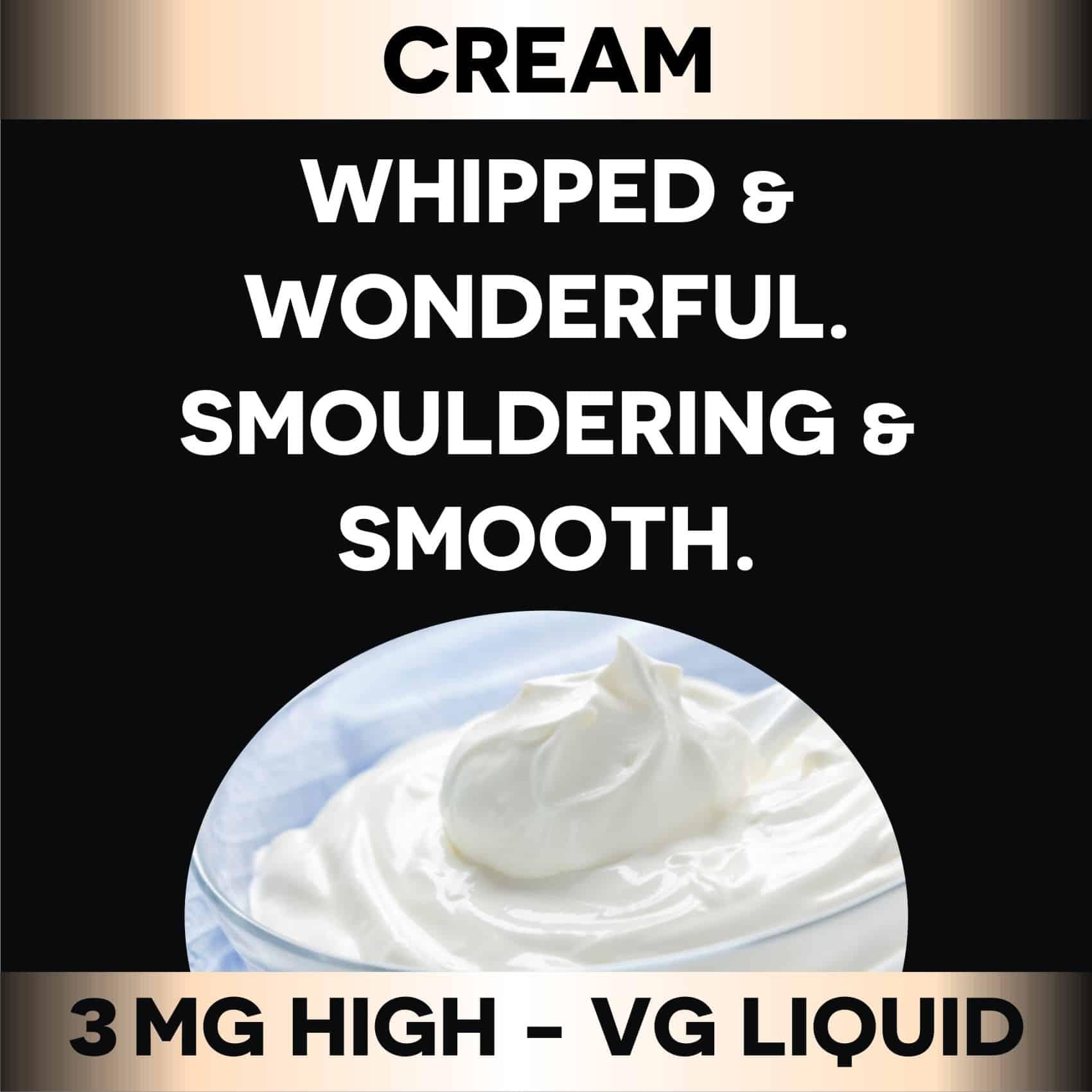 Cream 3mg (60 ml)(70%VG)