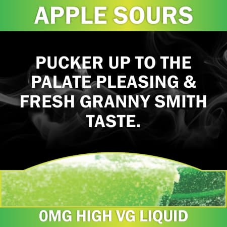 apple sours 0mg 60ml