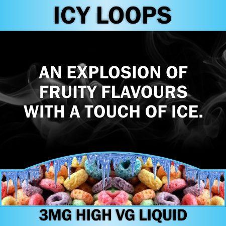 Icy Loops 3Mg 60ml Vape Direct Lung Juice Liquid