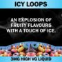 Icy Loops 3Mg 60ml Vape Direct Lung Juice Liquid