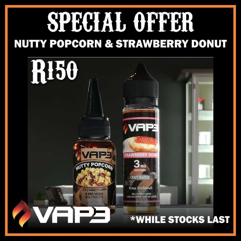 SPECIAL NUTTY POPCORN / STRAWBERRY DONUT