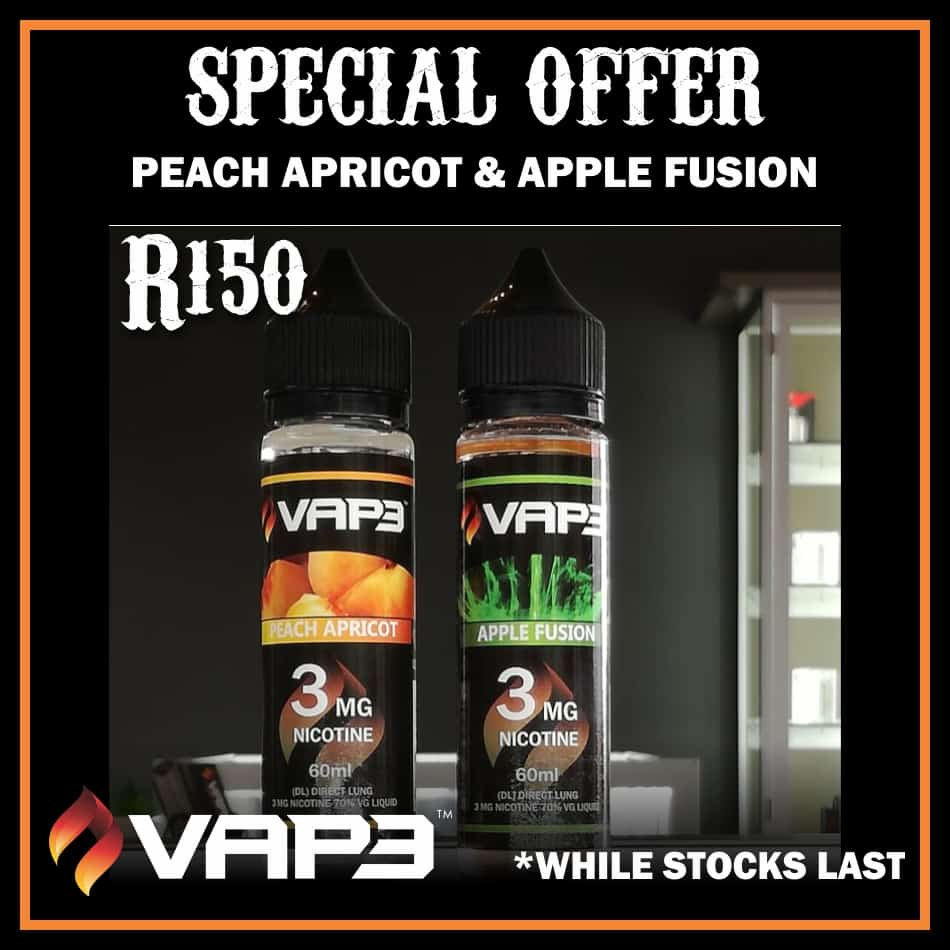SPECIAL PEACH APRICOT / APPLE FUSION VAPE